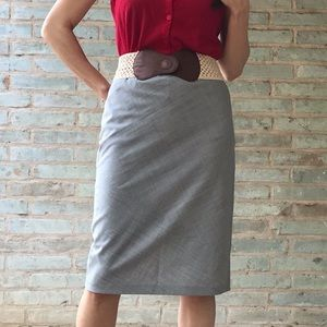Laundry by Shelli Segal Grey Career Pencil Skirt